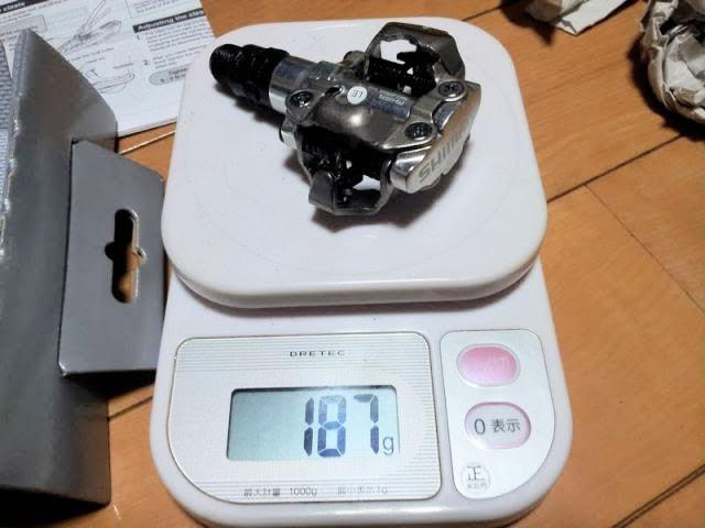 両面SPDペダルPD-M520の片方の重量