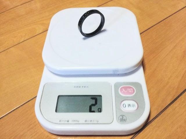 カーボン製コラムスペーサーの重量