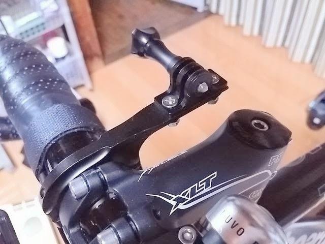 自転車用のアクションカメラマウント
