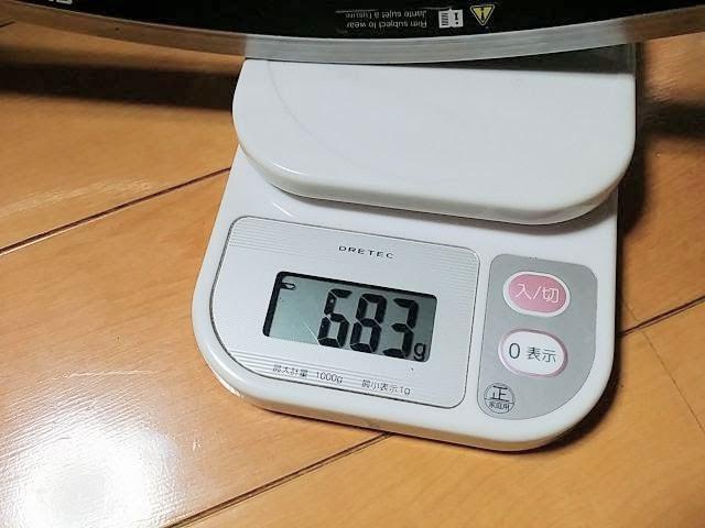 WH-6700、前輪の重量を計測しています。詳細は以下