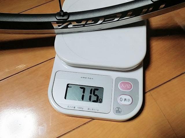 WH-6800、前輪の重量を計測しています。詳細は以下