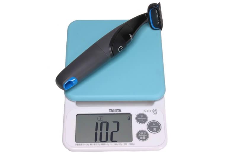 フィリップス ボディーグルーマー BG1022/16の実測重量、詳細は以下