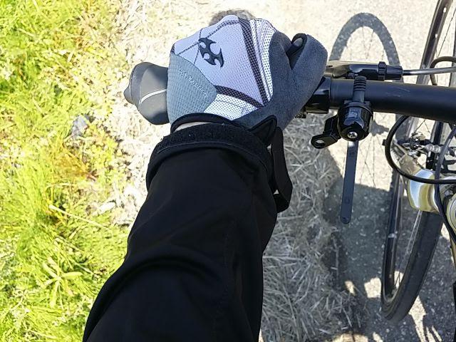 TOGSを握って前傾姿勢の腕の位置