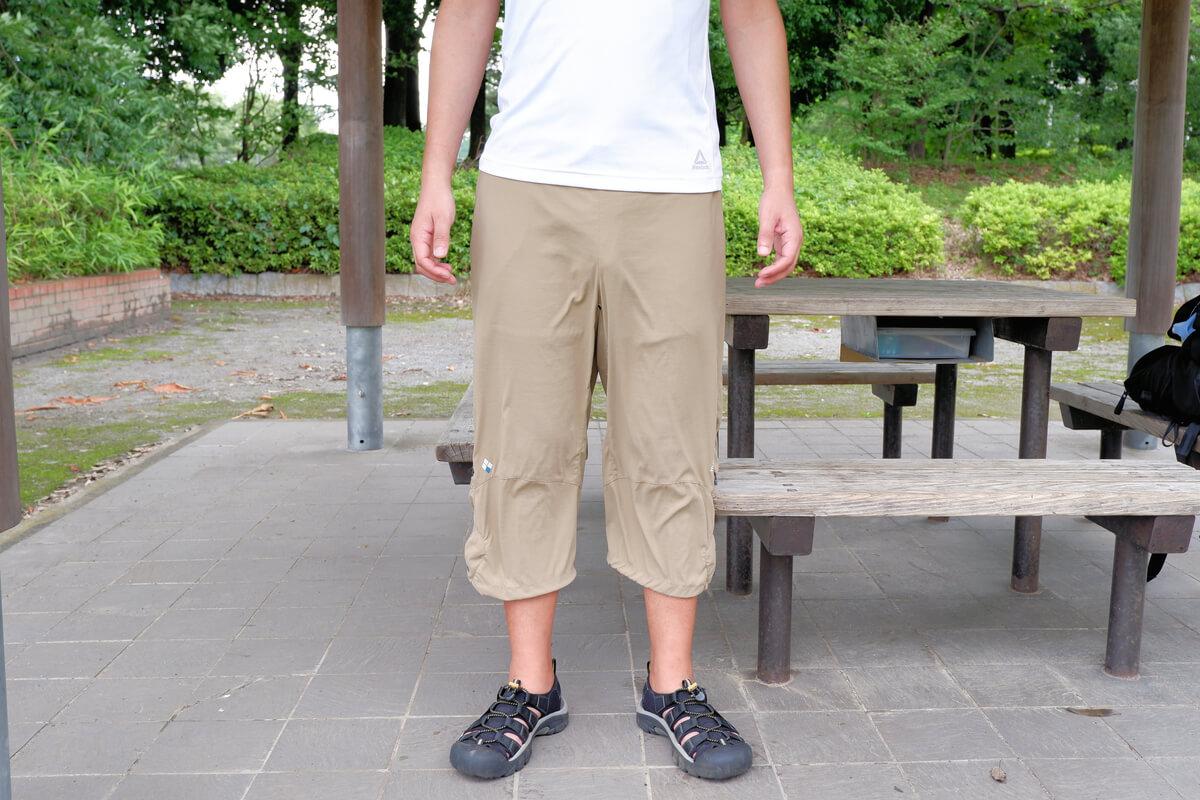 モンベル サイクルツーリングニッカを履いた男性