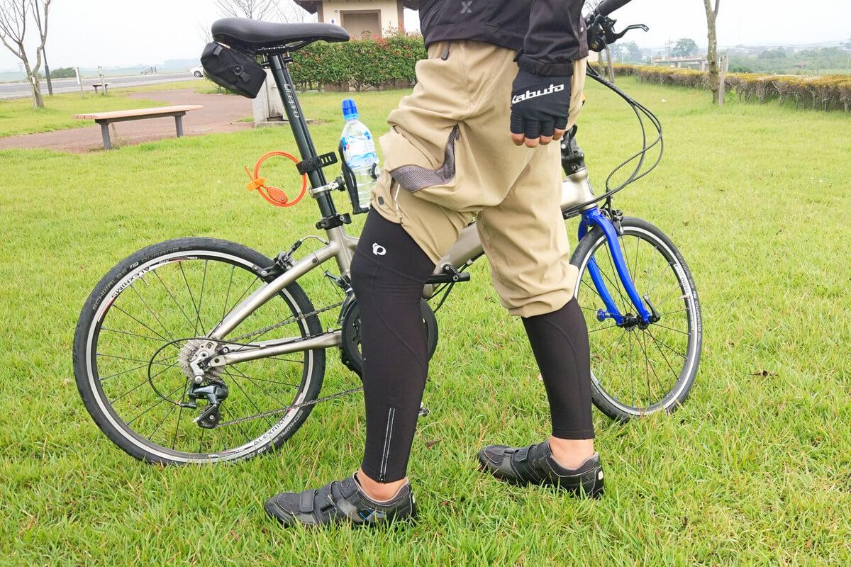 モンベル サイクルツーリングニッカの下にサイクルタイツを履く