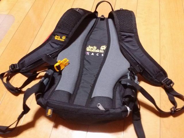 自転車用バッグの背面パッド