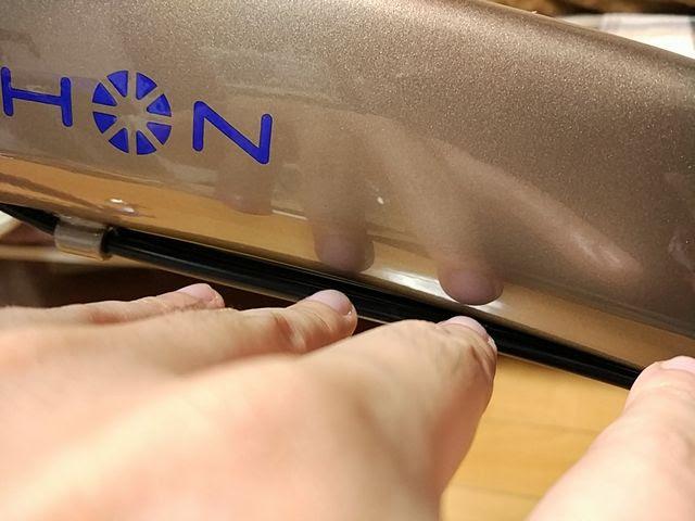 エーゼットのガラスコーティング2回目のダホンのフレーム