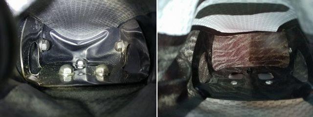 オルトリーブのサドルバッグ、マイクロのネジ交換後の比較画像