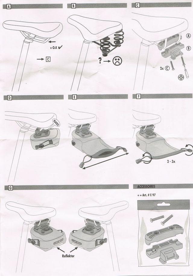 オルトリーブのサドルバッグ、マイクロの使用方法