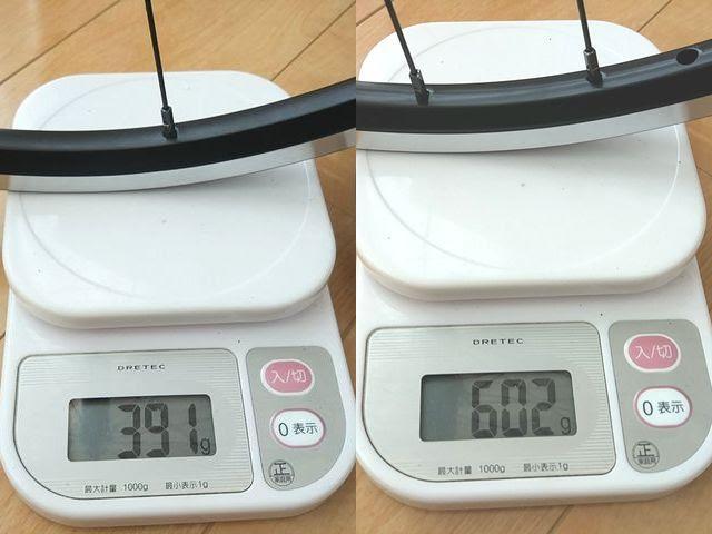 Aliexpressの20インチ451ホイールの実測重量、詳細は以下