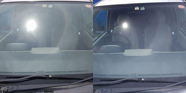 GRETA(グレッタ)偏光ミラーレンズの車内の見え方