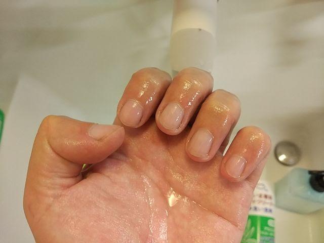 爪ブラシ仕様後の爪の様子
