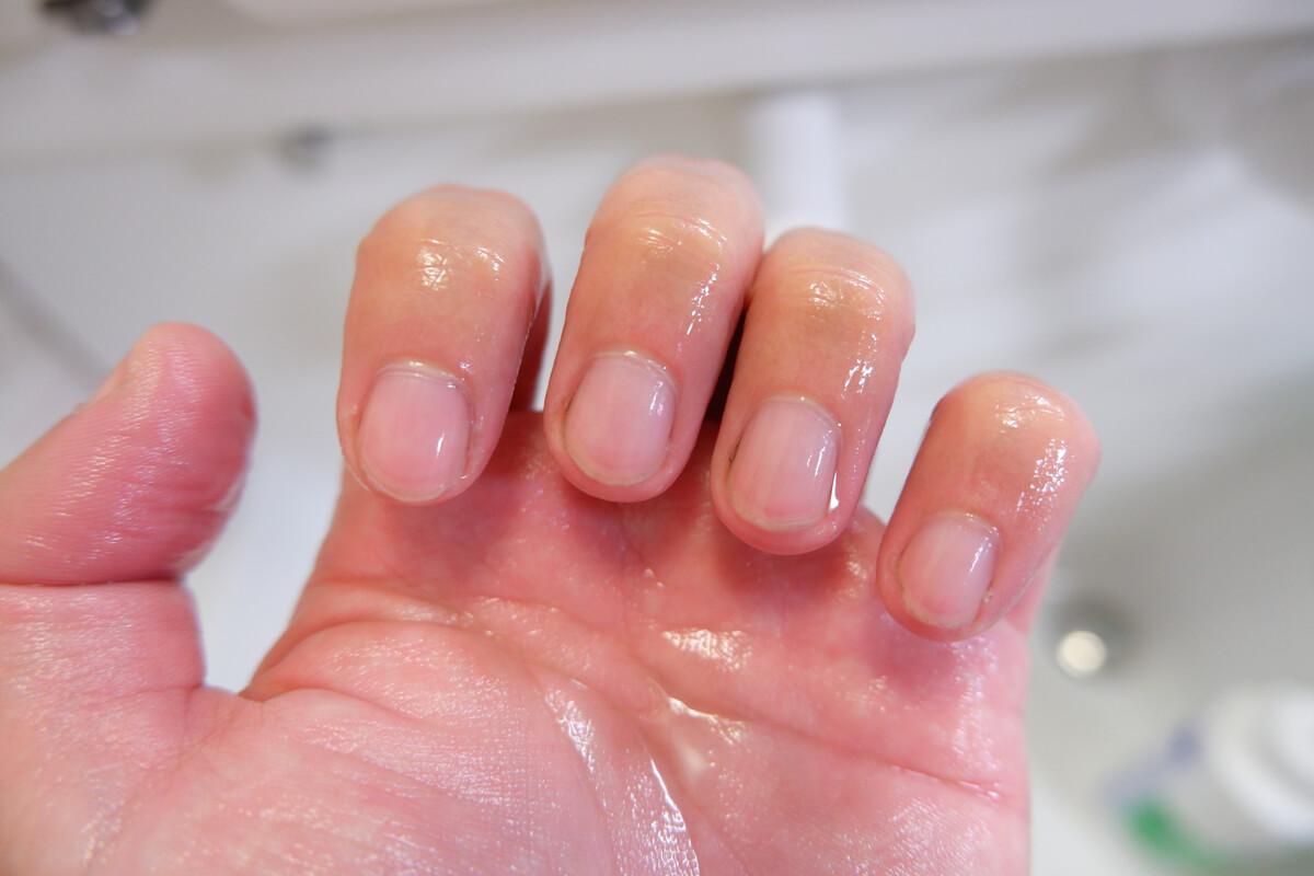 トラスコ 爪ブラシ使用後の爪