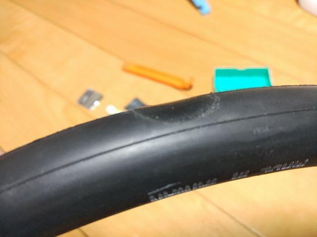 マルニ超薄型パッチを28Cチューブに貼って空気を入れた