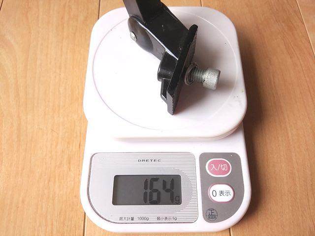 ダホンのセンタースタンドの重量を計測、詳細は以下