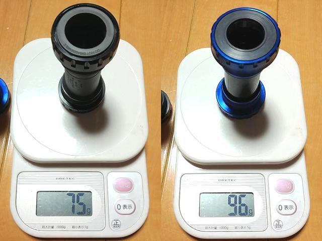 シマノSM-BBR60とトーケンTK878EXの実測重量、詳細は以下
