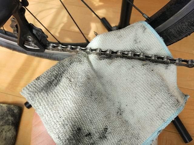 レック激落ちクロスを自転車チェーンに使用