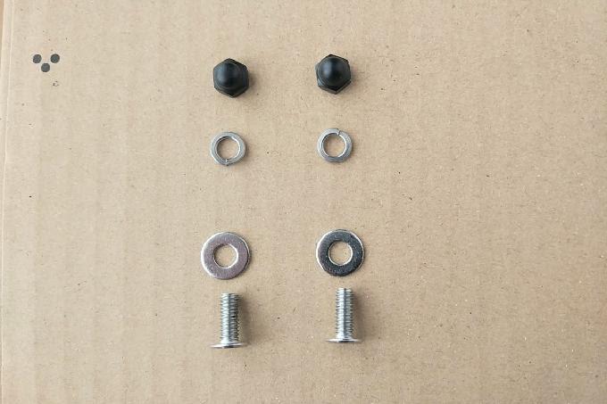 オルトリーブ マイクロのネジ交換に使う超低頭ネジとワッシャーと袋ナット