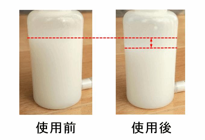 AZ(エーゼット) 狭所用オイラーをチェーンに使用した残りの容量の比較
