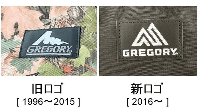 グレゴリーの旧ロゴと新ロゴの比較