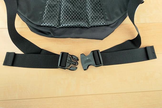 グレゴリーのウエストバッグ、ハードテールのベルトとバックル
