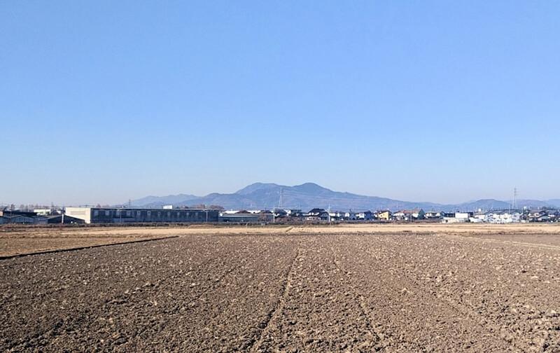 栃木市 太平山を遠くから撮影