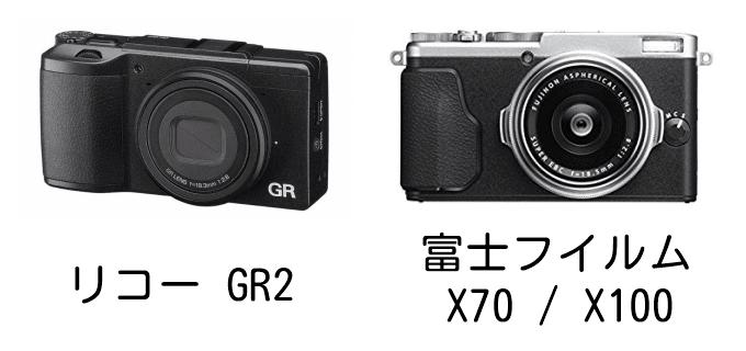 リコー GR2と富士フイルム X70