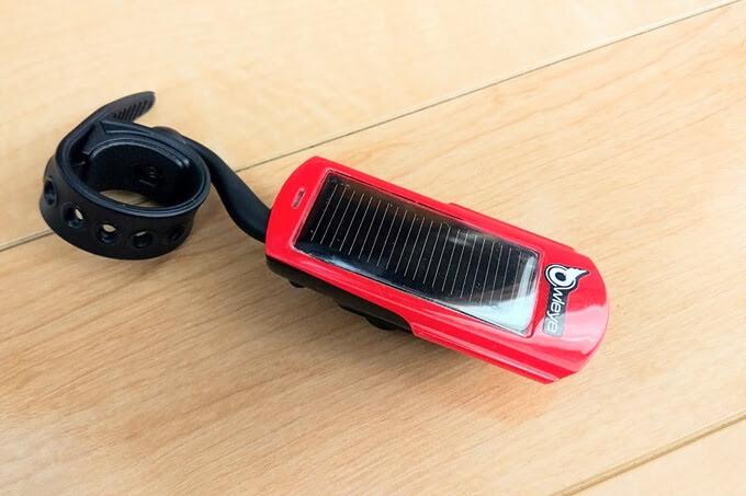 OWLEYE(オールアイ) 自転車テールライト、ソーラー充電