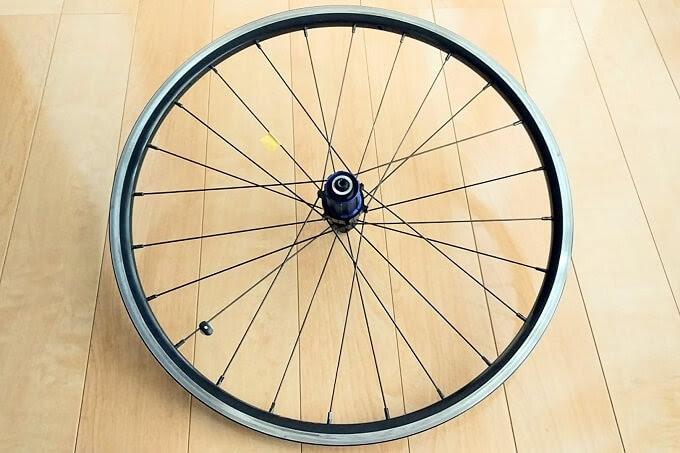 自転車ホイールをサイクルベースあさひに持ち込む