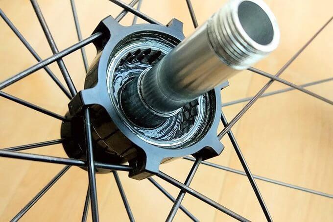 自転車ホイール、フリーボディの中身
