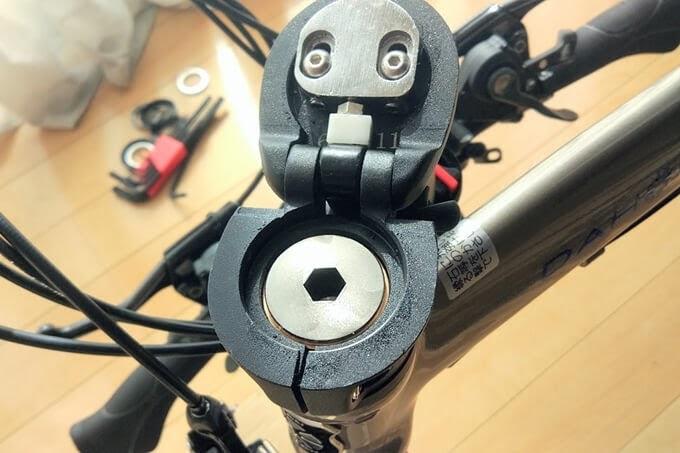 dahon visc evoのハンドルポストを折り畳んだ状態