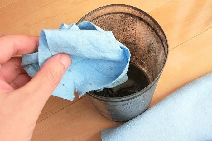 自転車チェーンを洗浄したパーツクリーナーの廃液の捨て方