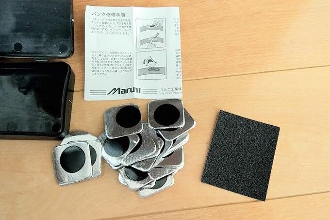 マルニの超薄型修理パッチK-580、付属品