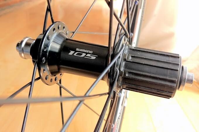 シマノ105ハブ(FH-5800)ブラック
