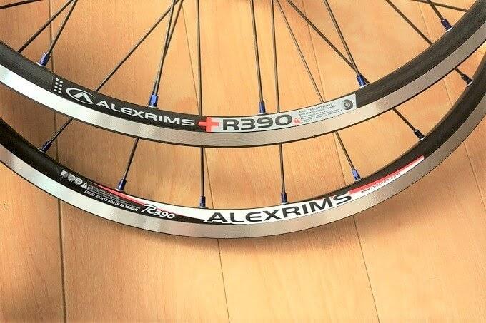 アレックスリムR390の新旧ステッカーを比較