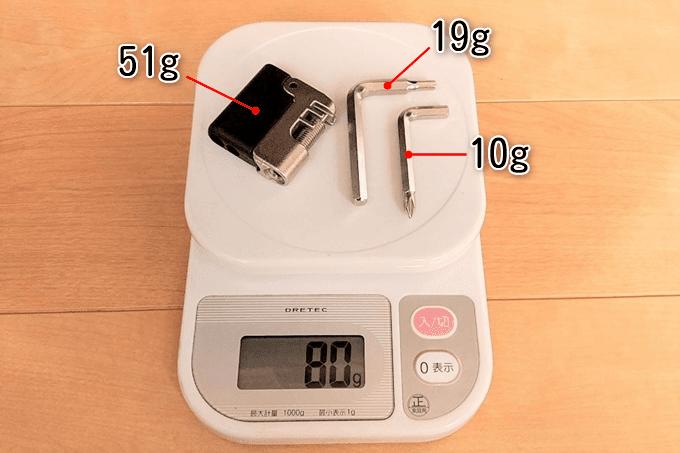 ノグチ ミニチェーンカッター YC-285の実測重量、詳細は以下