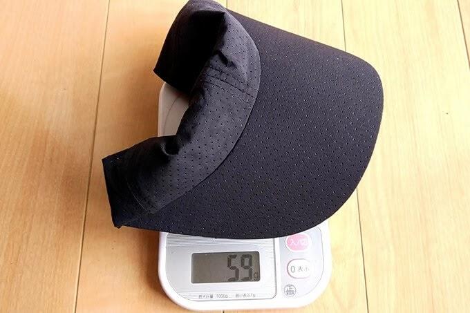 woosoo、メッシュキャップの実測重量、詳細は以下