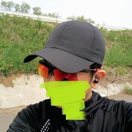 woosoo、メッシュキャップをサイクルキャップとして使う