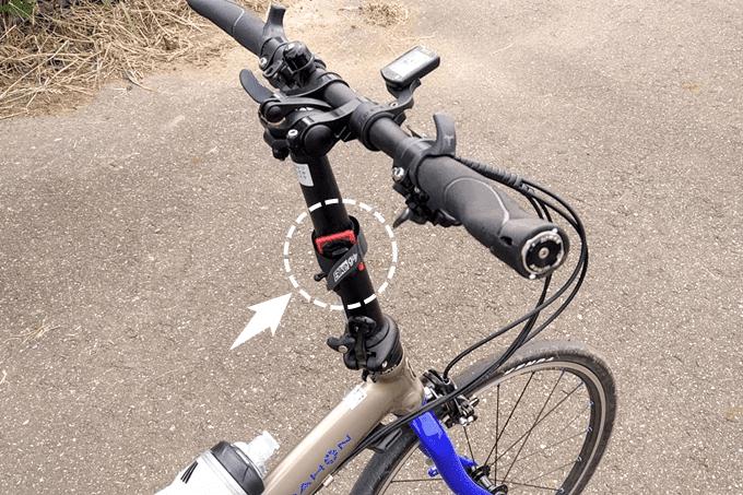 バイクガイのマルチホルダーとダホンのハンドルポスト