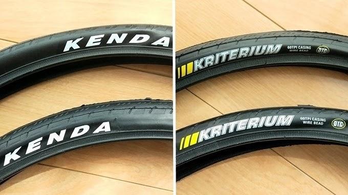 KENDA、451-28Cタイヤ、クリテリウムのロゴ