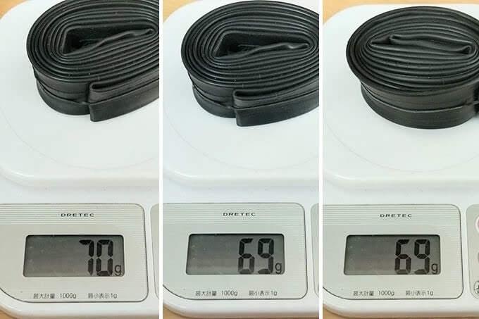 新しく買ったタイオガ ウルトラライトチューブの実測重量