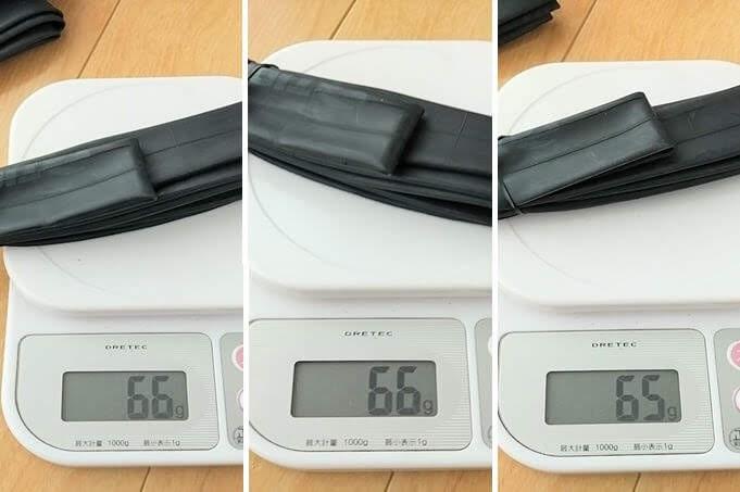 以前のタイオガ ウルトラライトチューブの実測重量
