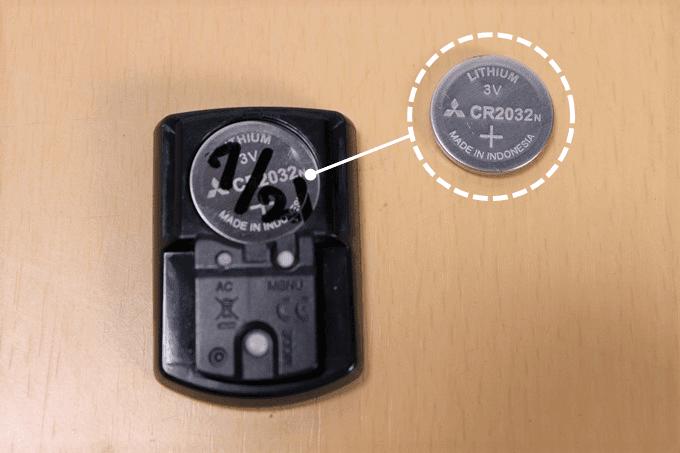 キャットアイ サイコン、ストラーダスマート(CC-RD500B)のボタン電池を入れる向き、詳細は以下