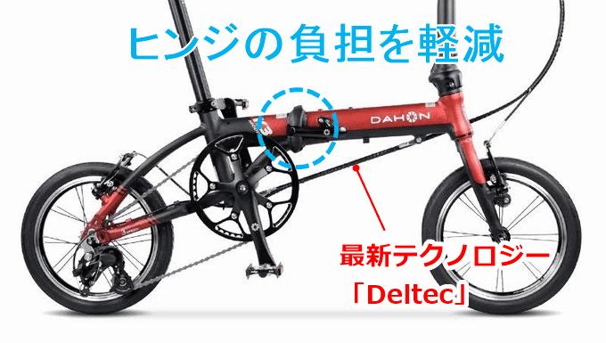 DAHON K3、Deltecテクノロジー