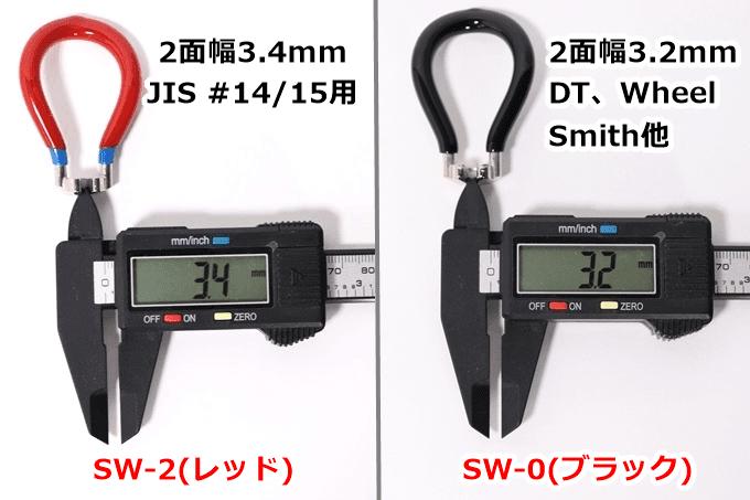 パークツールSW-0とSW-2の幅をノギスで計測