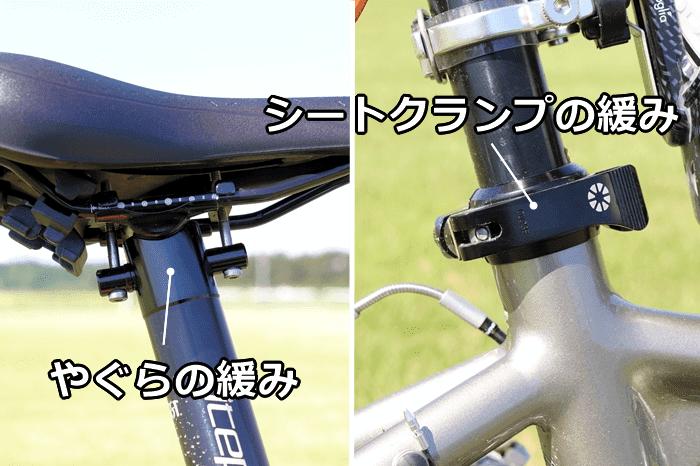 自転車、シートポスト・サドル周りの異音の原因