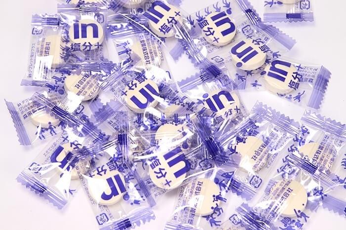 塩分タブレット、森永 inタブレット塩分プラスの中身、個別包装