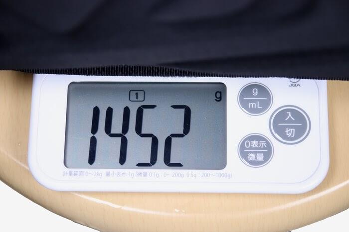 CHROME(クローム)のカメラバッグ「NIKO PACK」の実測重量