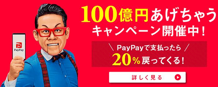 PayPay 100億あげちゃうキャンペーン開催中、宮川大輔