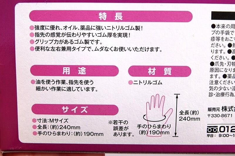ニトリルゴム製 極薄手袋の説明
